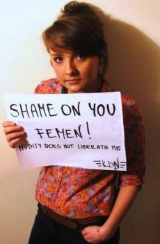 """""""Skam dykk FEMEN!"""" Ei melding som ikkje er til å taka i miss av."""
