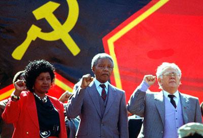Winne Mandela, Nelson Mandela og Joe Slovo.