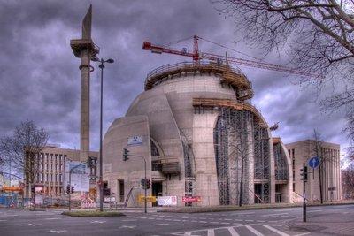Byggjeverksemd ved DITIB-stormoskeen i Köln.