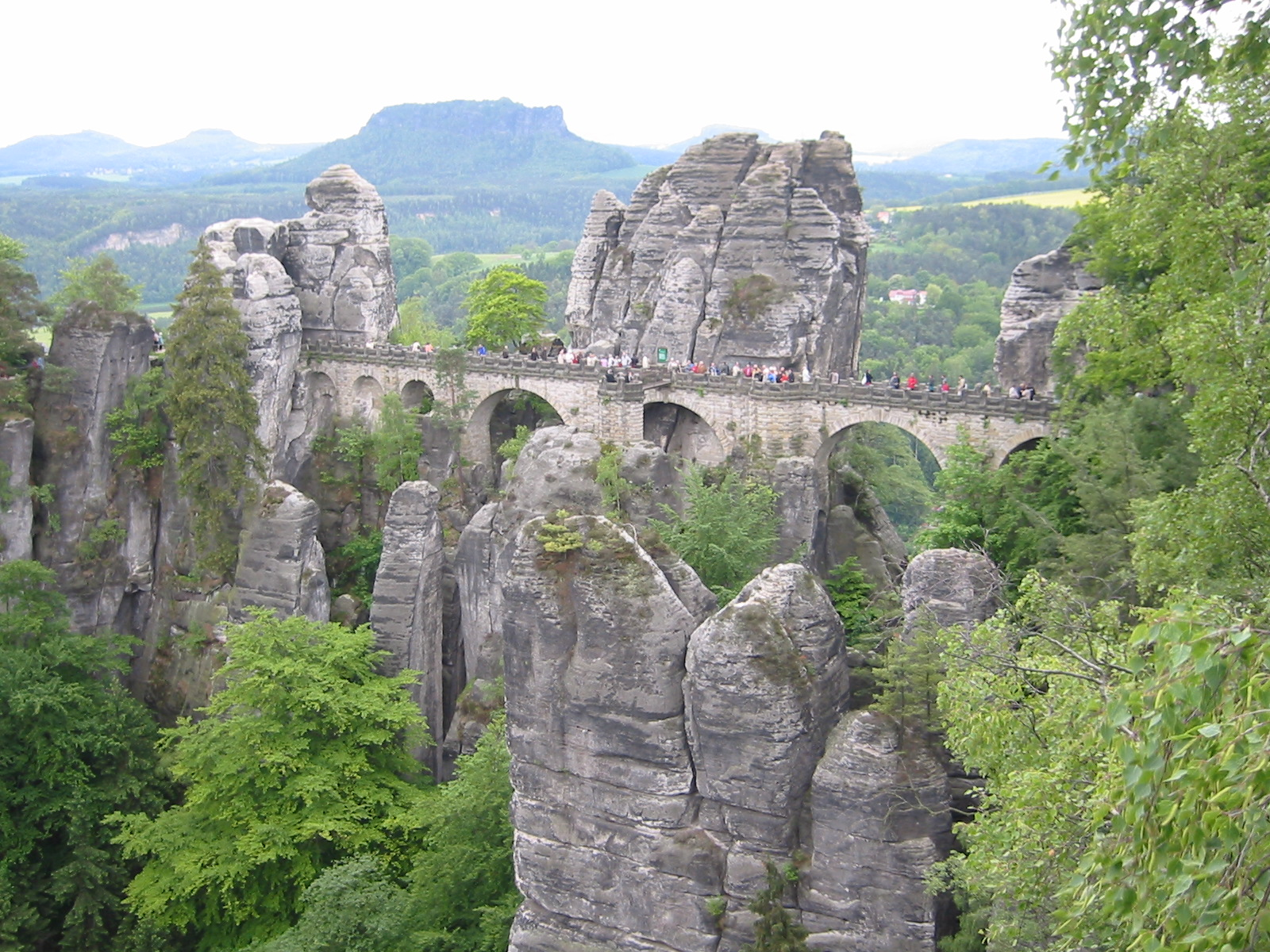 Bastei-brui ved Ferdinandstein, Saksiske Sveits.