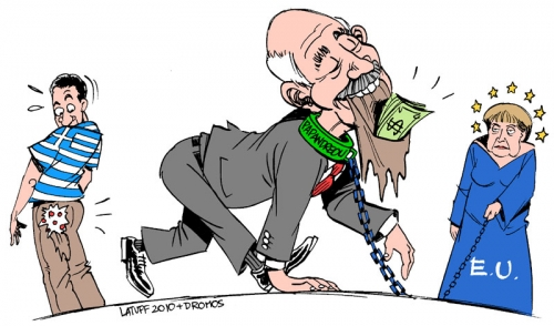 Greece-euro-Papandreou-Merkel-austerity