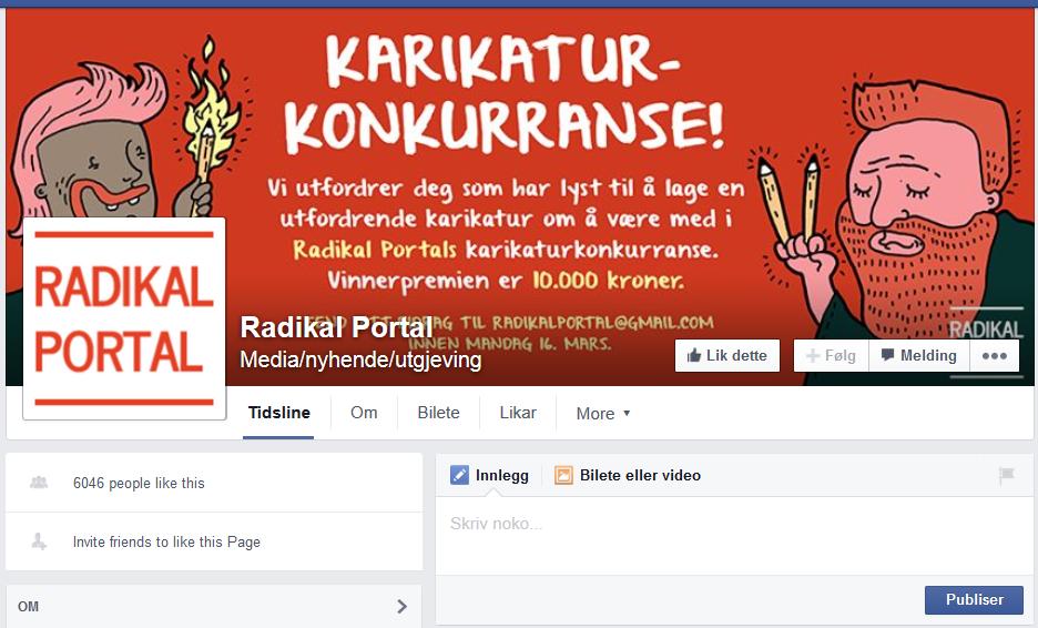 Radikal Portal lyste til karikaturtevling med fyrstepris på 10.000 kronor.