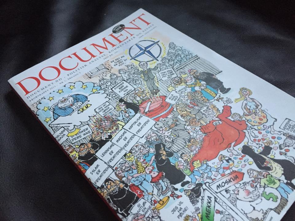 Framsida på tridje utgåva av Document-tidskriftet.