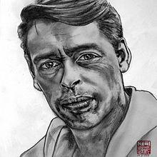 Jacques Brel, teikna av Joelle Chen.