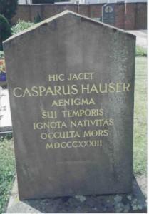 Kaspar Hauser si grav i Ansbach utanfor Nürnberg.