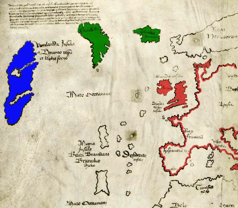 Det vidgjetne - og umstridde  - vinlandskartet.