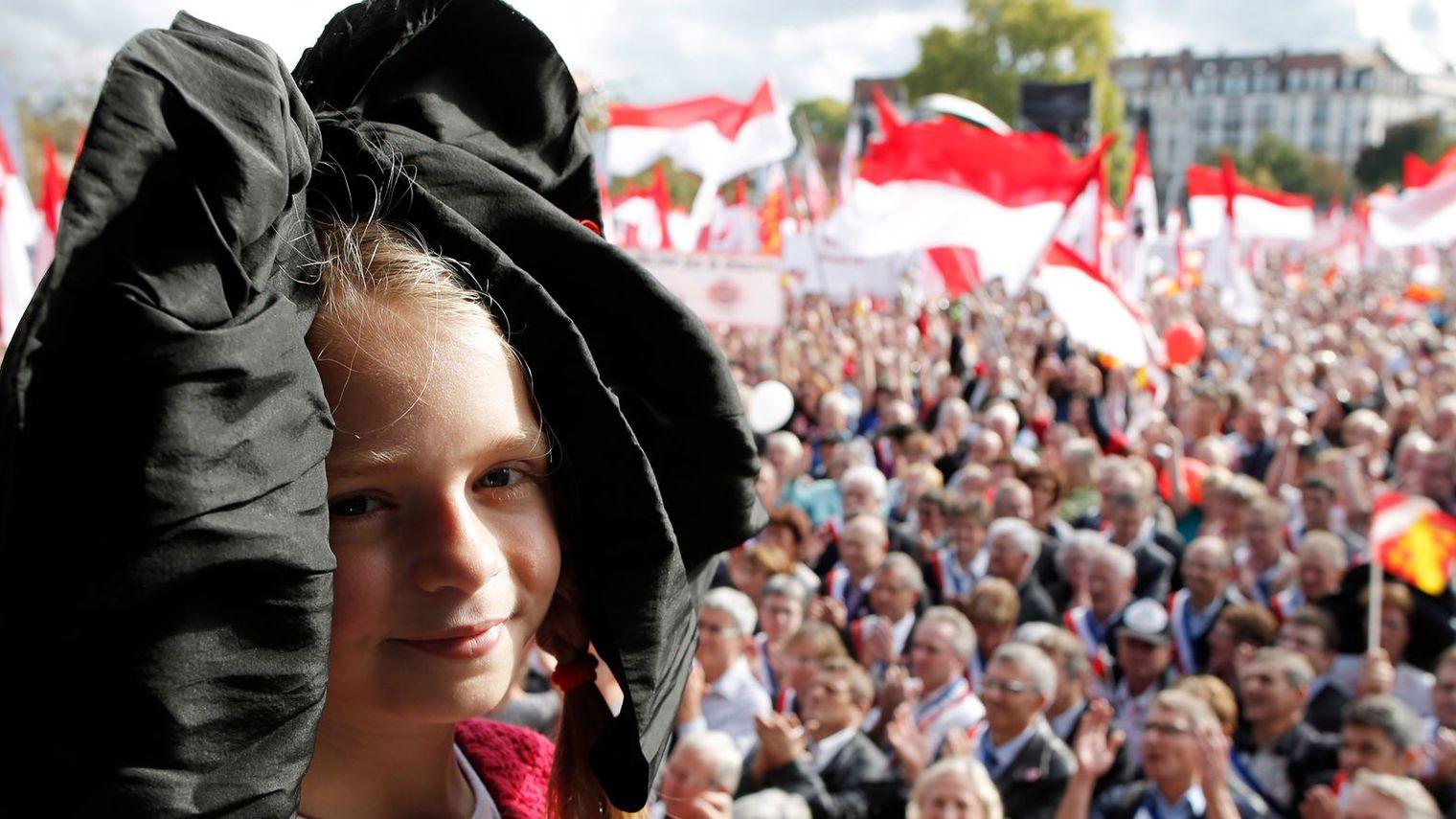 I Elsass kjempar ungdom for å halda uppe lokal identitet, språk og kultur.