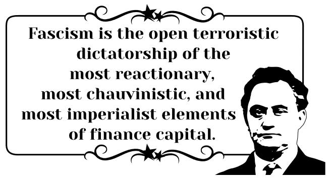 """Dimitrov nytta nemningi """"fascisme"""" på ein heilt annan måte enn det sjølvuppnemnde ekspertar og andre systemvaktarar gjer i dag."""