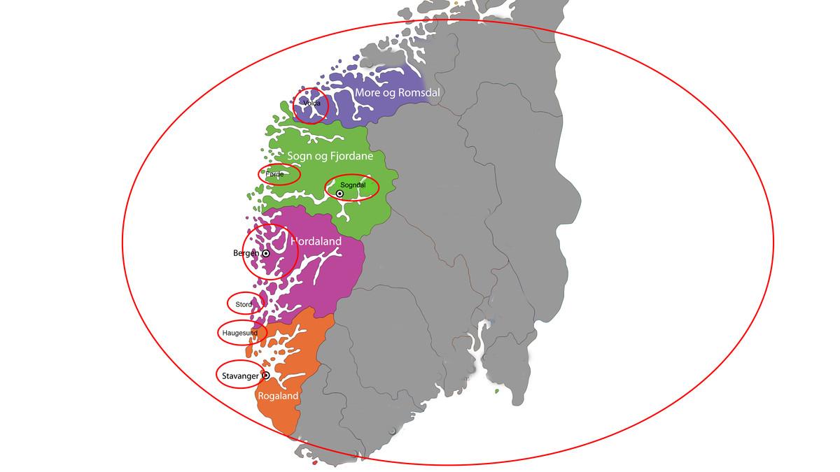 Ein vestlandsregion etter europeisk, føderalt mynster - der Sunnmøre er med for å gjeva Sogn og Fjordane ryggstø andsynes Hordaland og Rogaland.