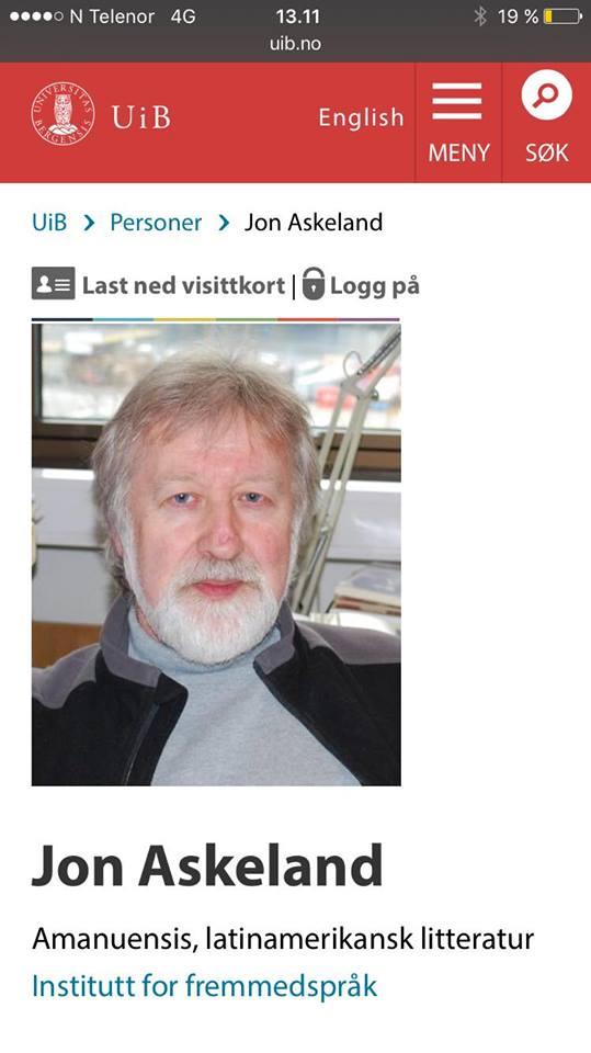 Formann i Vestmannalaget, Jon Askeland, var diverre ikkje tilgjengeleg for kommentar (Foto: Skjermdump frå heimesida åt UiB).